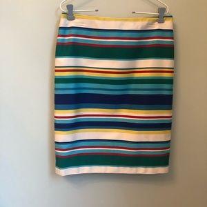 Talbots Size 8 Striped Pencil Skirt